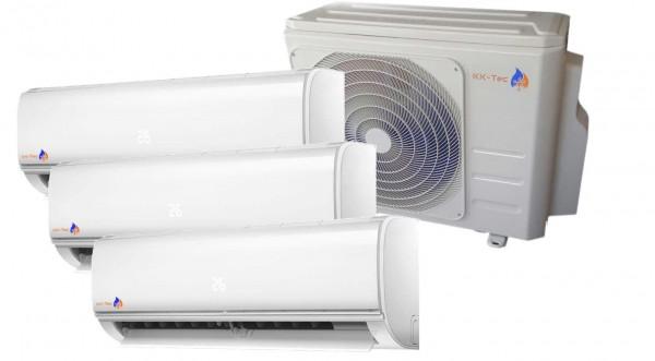 KK-Tec Trio Inverter System Klimaanlage Serie FAIRWIND R32 2,5+2,5+3,5
